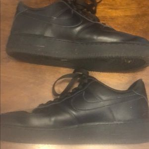 Nike Shoes - Black Air Force 1